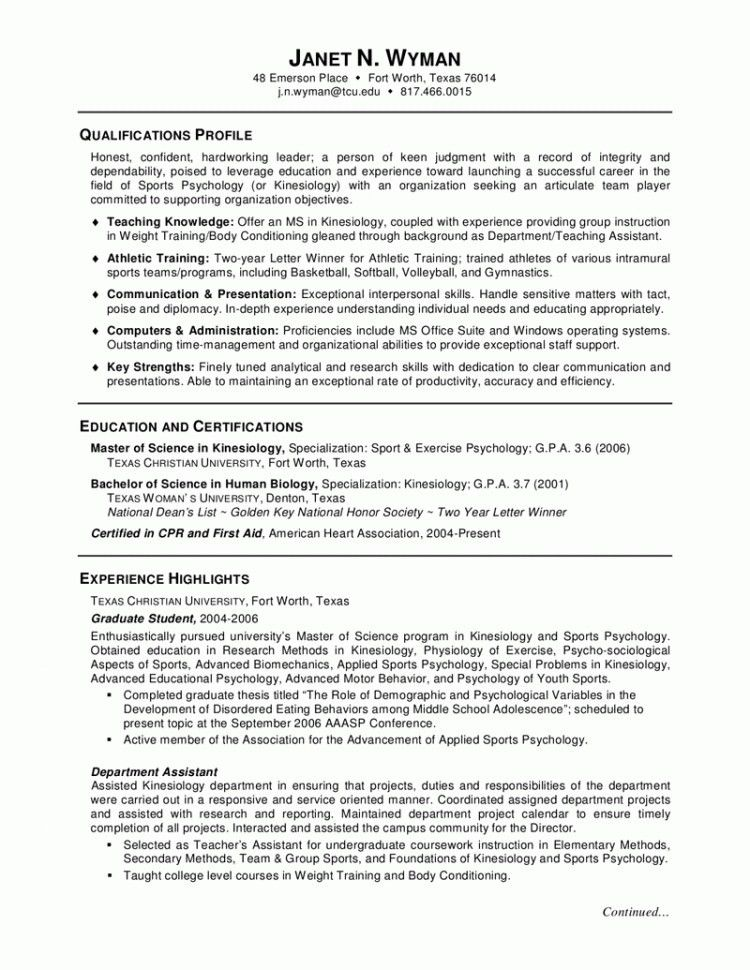 Graduate School Application Resume Template - Best Resume Collection