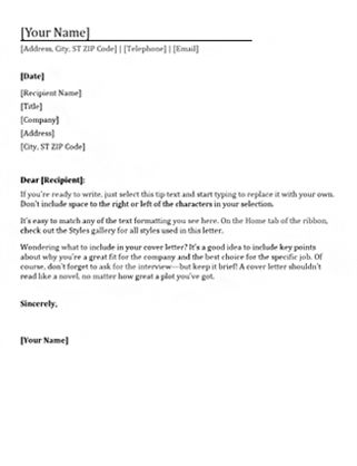 Functional resume cover letter (matches functional resume ...