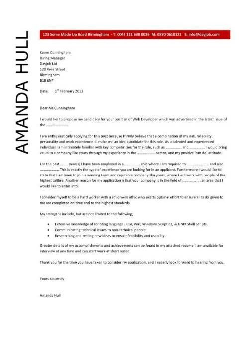 how to write cover letter for a job application free cover letter ...