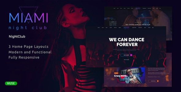 Miami - Night Club Responsive Adobe Muse Template by LiyaLandDesigns