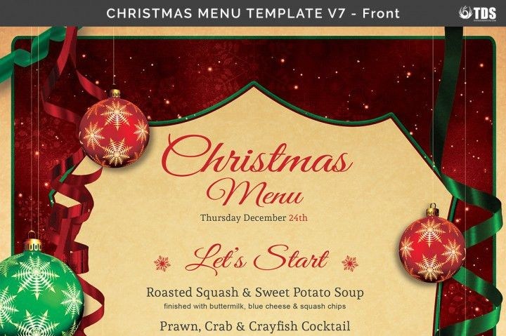 Xmas Menu Template. christmas eve menu psd template customizable ...