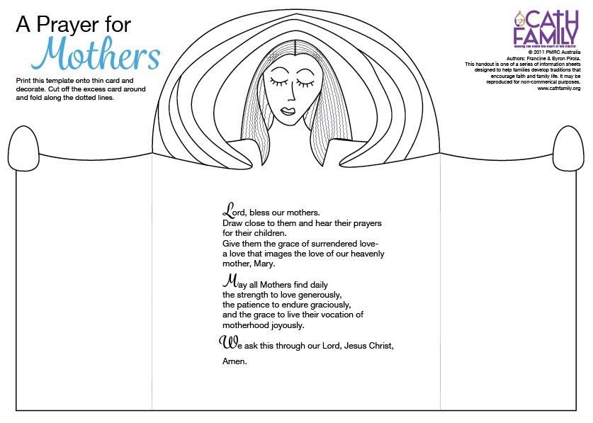 Mother's Day Prayer Card | CathFamily