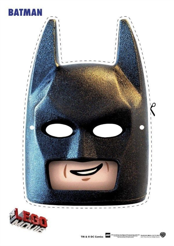 Lego Batman Printable Mask | Halloween Printables | Pinterest ...