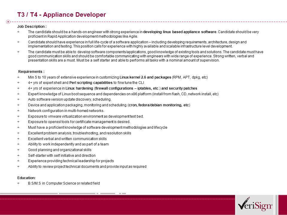 T4- Development Manager Job Description : + This position is for ...