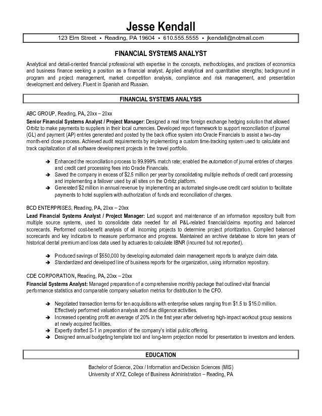 sample senior business analyst resume business analyst resume