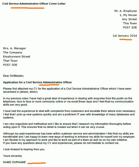 Civil Service Administrative Officer Cover Letter - forums ...