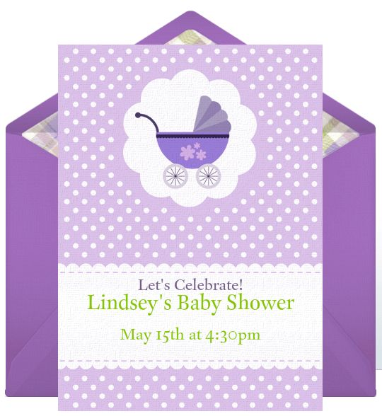 Email Invitations: Baby Showers
