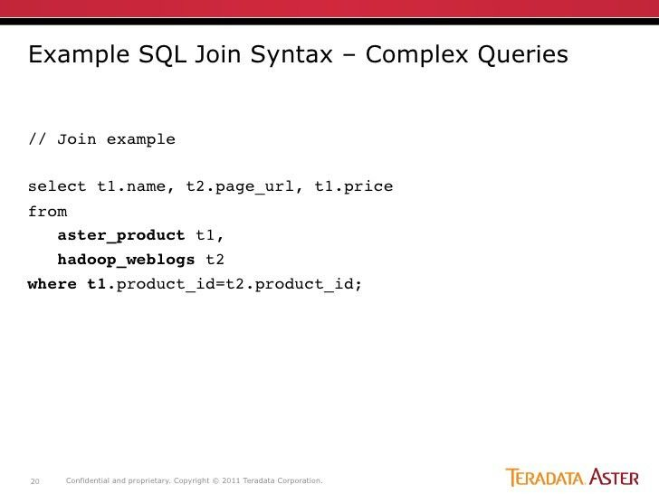 Example SQL Join Syntax –
