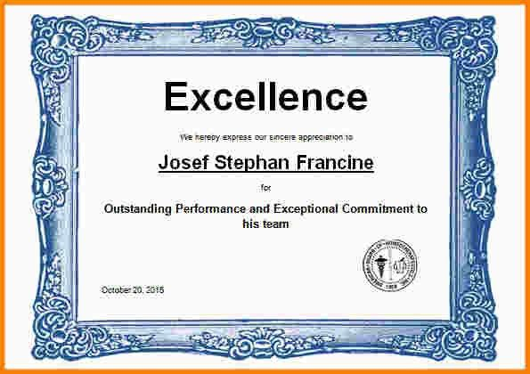 9+ award certificate template word | nypd resume