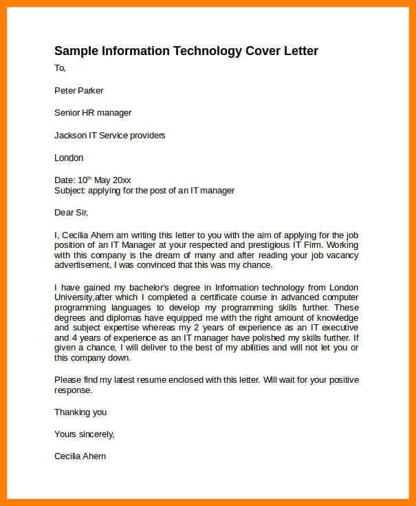 8+ information technology cover letter | artist resumes