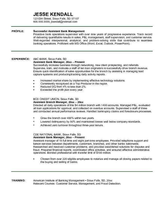 Resume Objective Examples Branch Manager - Augustais