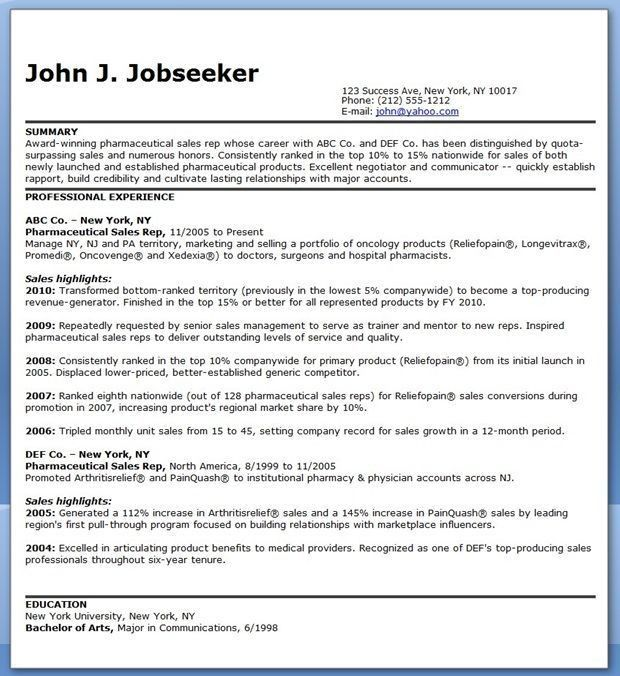 12 best pharmaceutical resumes images on Pinterest ...