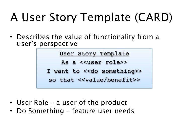UW Agile CP202 - Class 1 User Stories