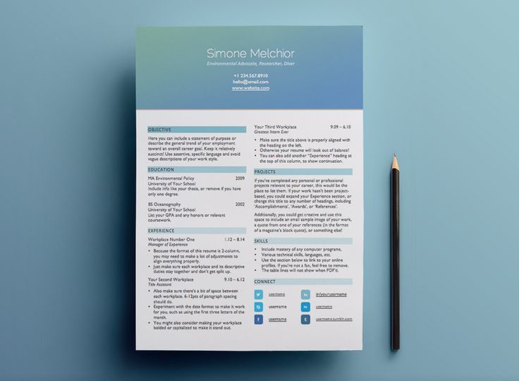 81 best RESUMES/CARDS images on Pinterest | Resume tips, Resume ...