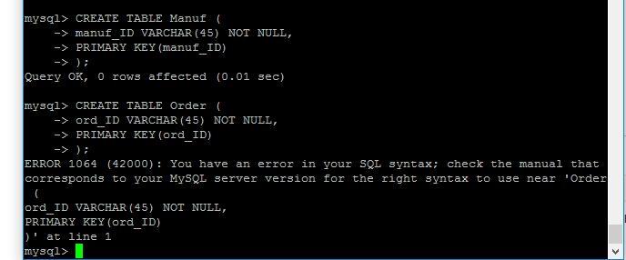 MySQL Create Table Statement Strange Errors - Stack Overflow