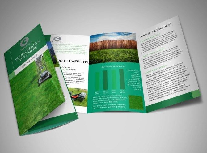 Lawn Mowing Brochure Template | MyCreativeShop