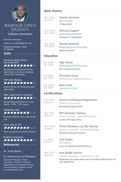 Teacher Assistant Resume samples - VisualCV resume samples database