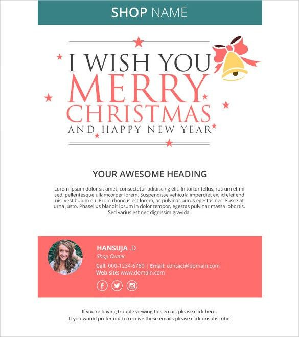 Holiday Email Template – 18+ Free JPG, PSD Format Download | Free ...