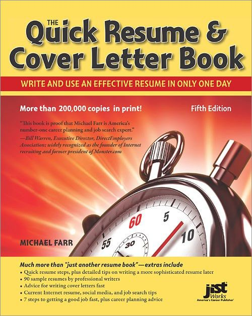 The Quick Resume & Cover Letter Book, 5th Edition - O'Reilly Media