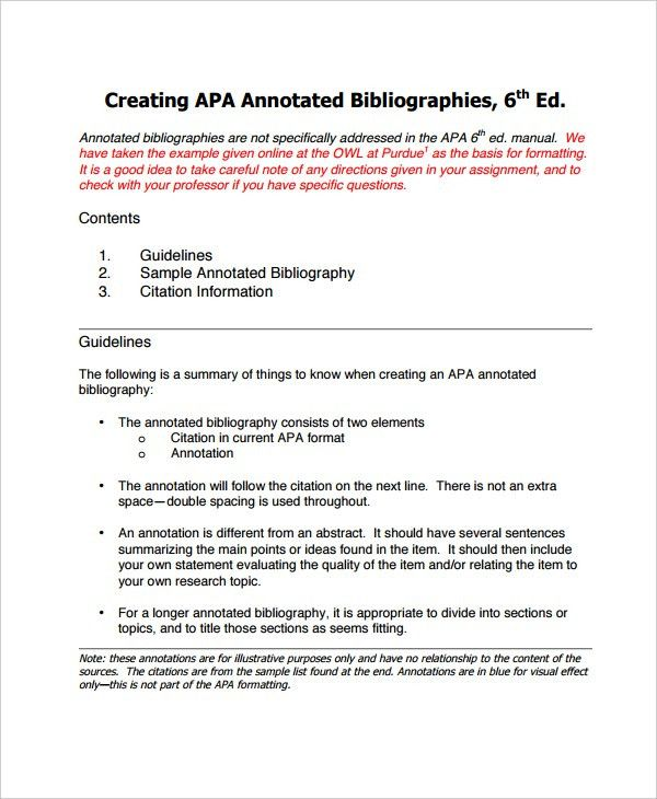 10+ Annotated Bibliography - Free Sample, Example, Format | Free ...