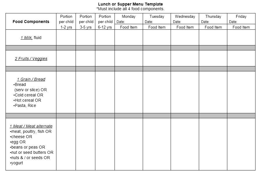 13 Free Sample Lunch Menu Templates – Printable Samples