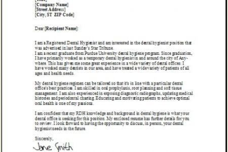 Reference Letter For Dental Hygiene School Cover Letter Templates ...
