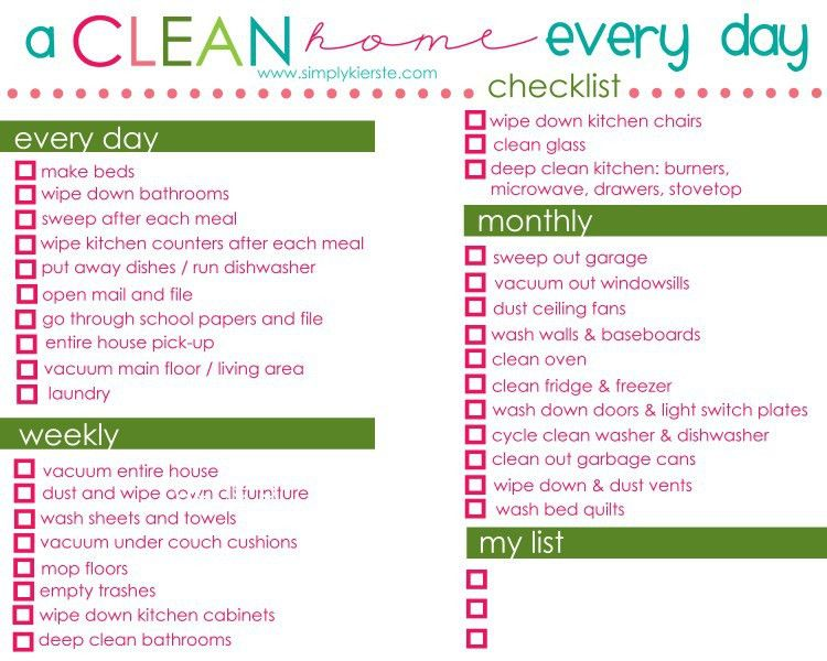 22 best Cleaning Schedules images on Pinterest | Cleaning routines ...