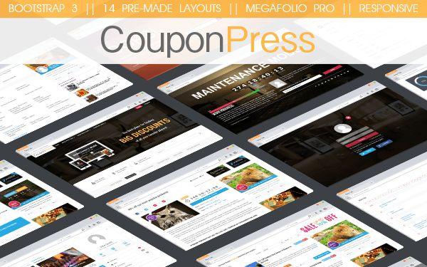CouponPress - Responsive HTML Coupon Website Template | Themesnap.com