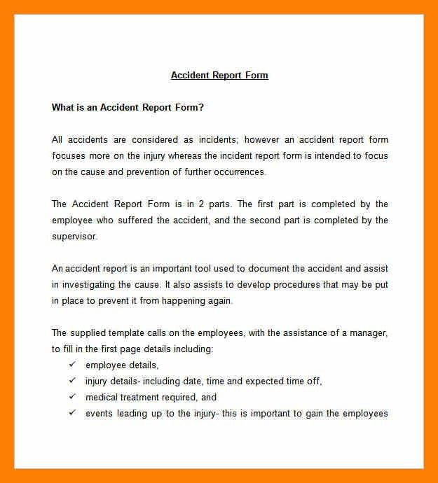 Accident Report Template. Filling In A Form Worksheet Preview ...