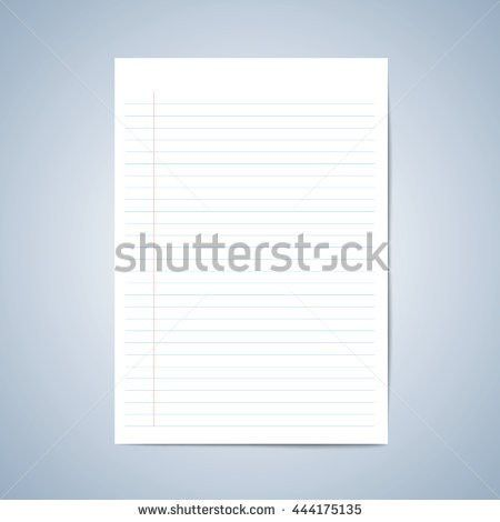Vector Paper Blank Paper Lined Paper Stock Vector 443289505 ...