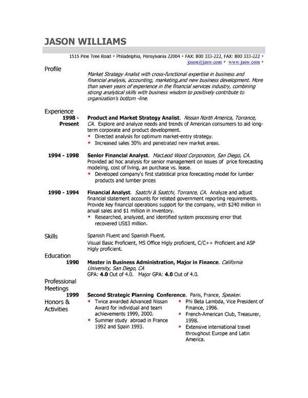 Yahoo Resume Template | Template Design