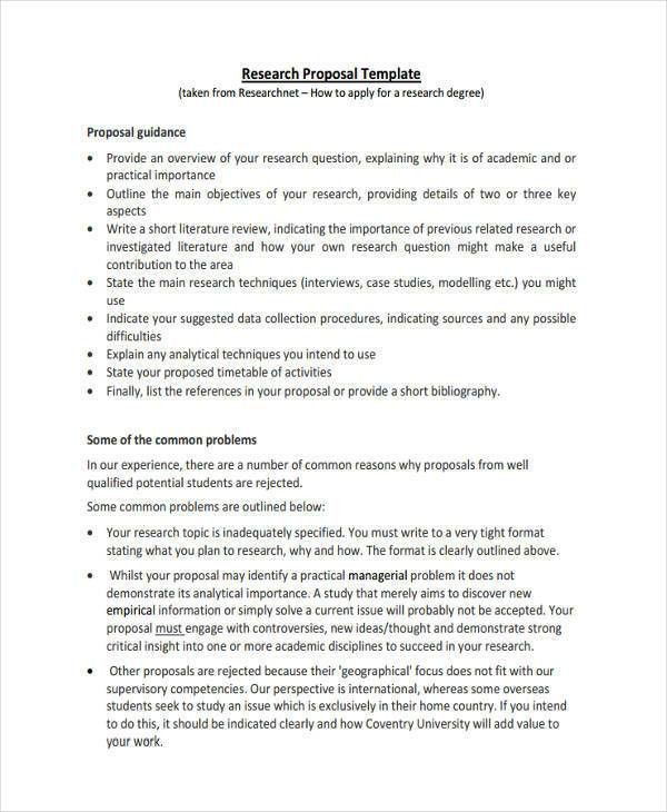 Project Proposal Template - 8 Examples in Word, PDF