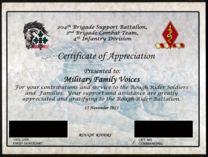 Military Certificate Of Appreciation Template - Arch-times