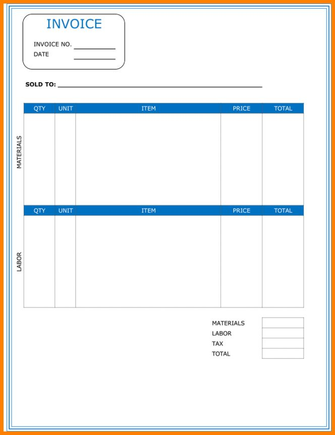 9+ contractor's invoice example | cashier resumes
