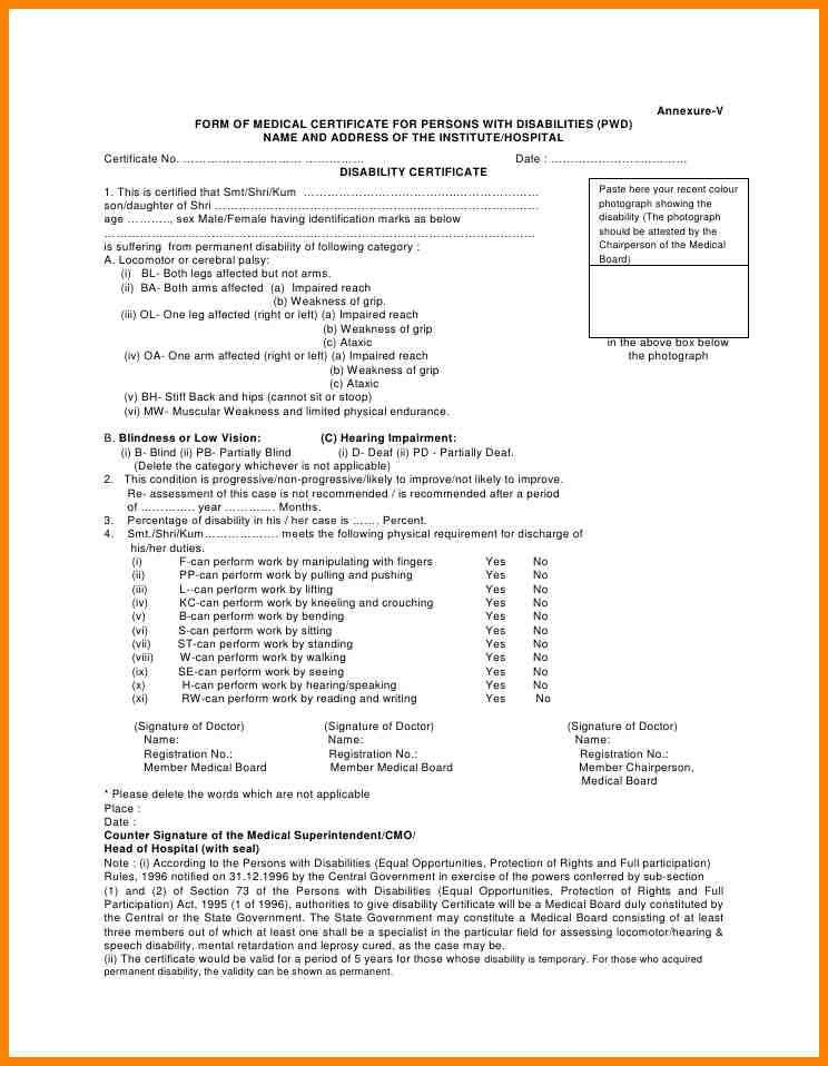9+ disability certificate format | resume language