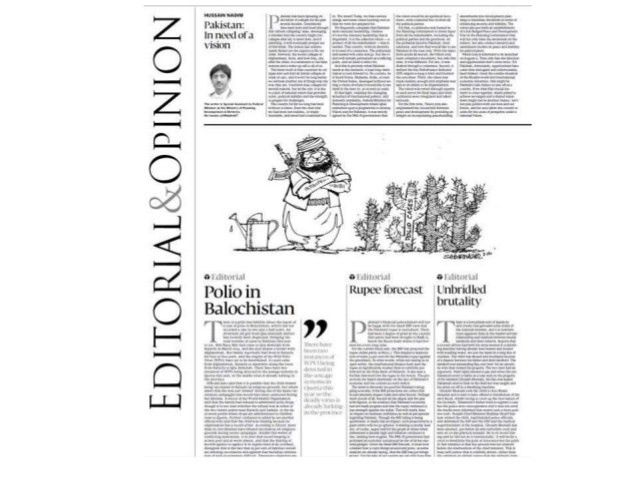 Editorial of newspaper and opinion
