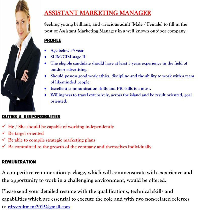 Assistant Marketing Manager,Red Doors Advertising (Pvt) Ltd,latest ...