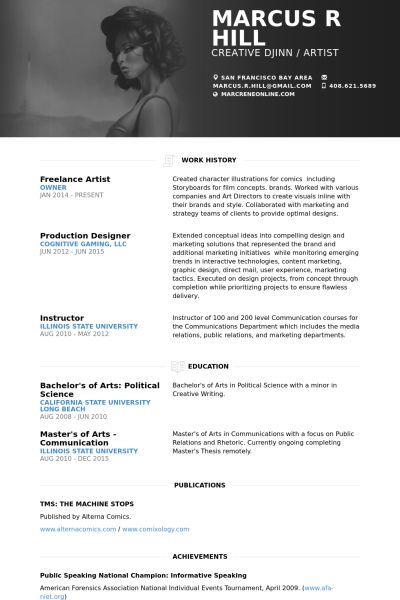 freelance artist resume samples visualcv resume samples database - Example Of Artist Resume