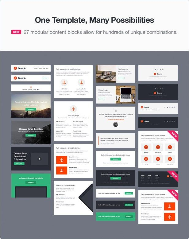 Oceanic - Modular Responsive Email Template by Templity | ThemeForest