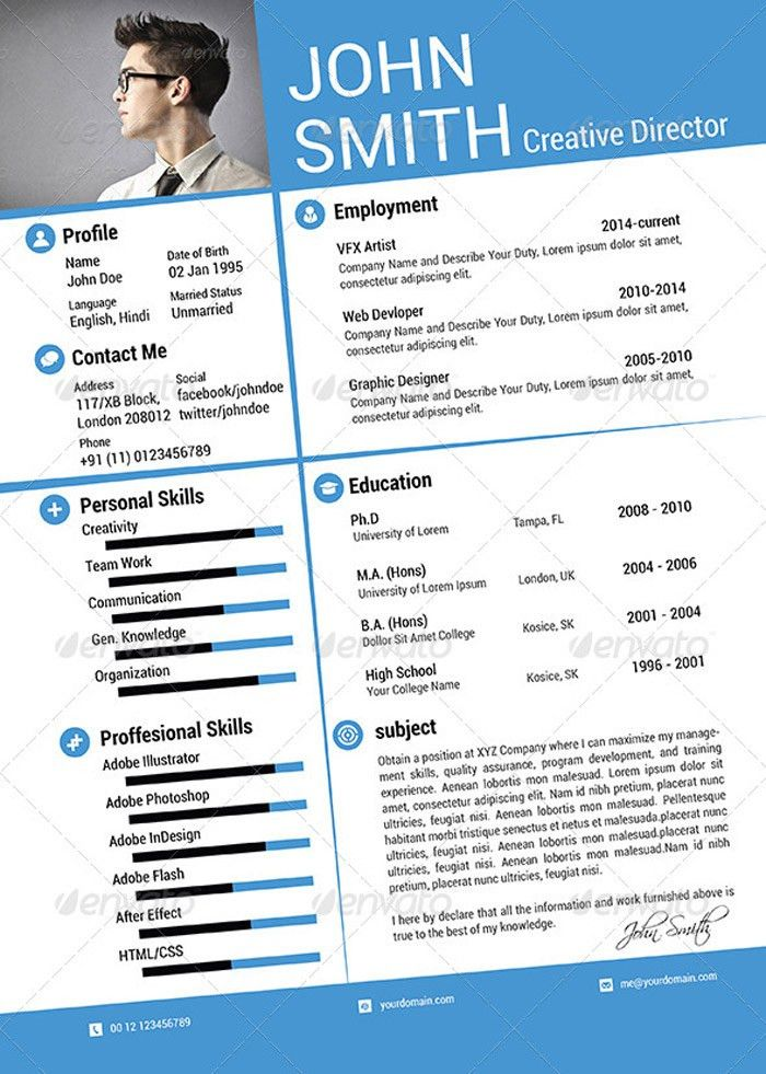 25 Attractive Print and Resume Templates