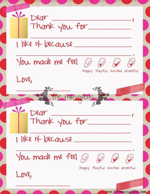 36 best Printable kids thank you notes images on Pinterest | Kids ...