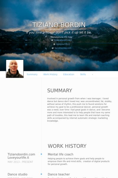 Coach Resume samples - VisualCV resume samples database