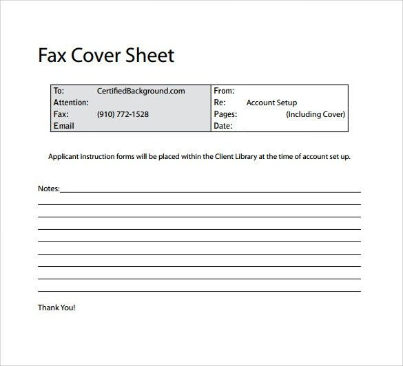 Sample Basic Fax Cover Sheet - 13+ Documents in Word, PDF