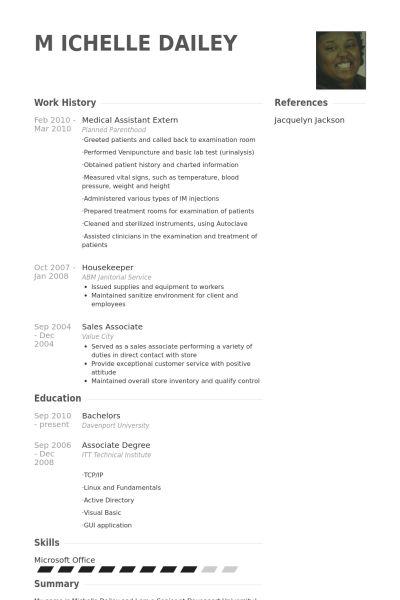 Assistant Médical Exemple de CV - Base de données des CV de VisualCV