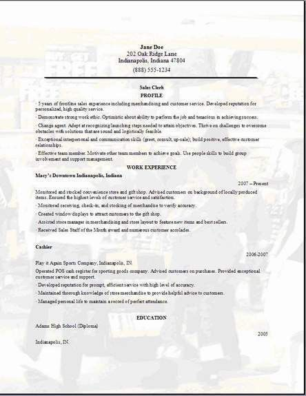 Sample Retail Resume Template. Retail Manager Resume Examples ...