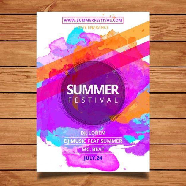 Summer modèle d'affiche du festival | Festival posters, Graphics ...