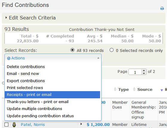Manual receipts and thank-you letters - CiviCRM User Guide ...