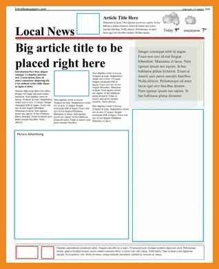 newspaper article template | art resume examples