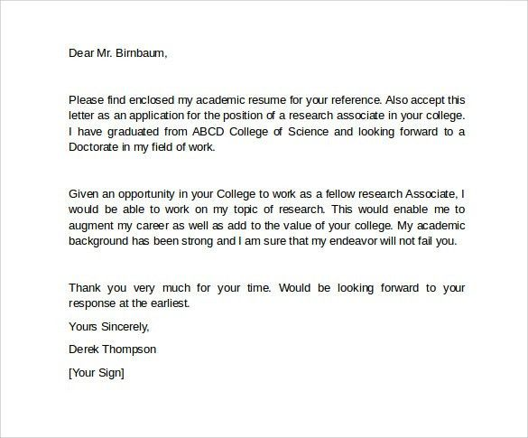 7 College Letter Of Intent – Samples, Examples & Formats | Sample ...