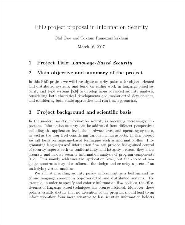 10+ Security Proposal Examples, Samples